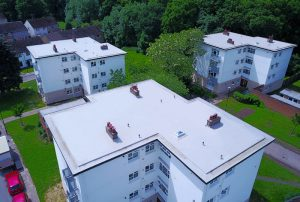 Kingsley Roofing Midlands completed this re-roof to a block of flats