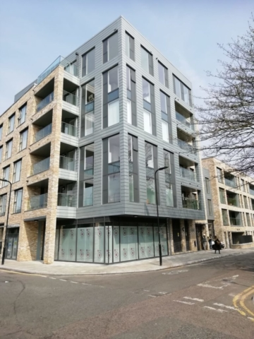 Zinc cladding residential property