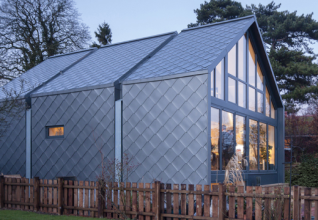 zinc shingles on a domestic property
