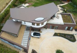 Zinc roof with VM Zinc for a residential bespoke project